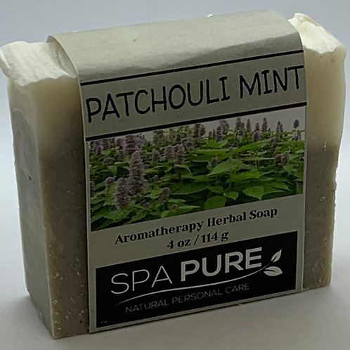 Patchouli Mint Aromatherapy Herbal Soap