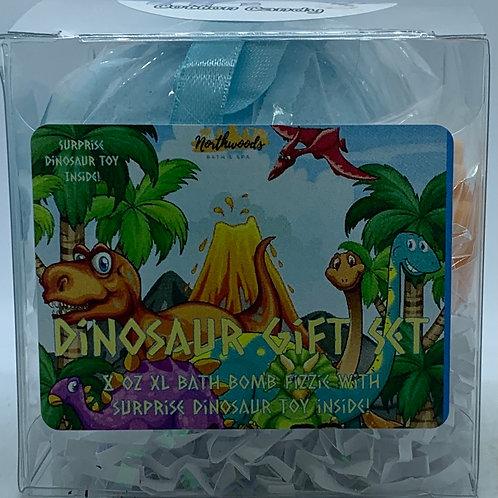 Colossal Dinosaur (Cotton Candy) XXL 8 oz Bath Bomb Gift Set (blue)