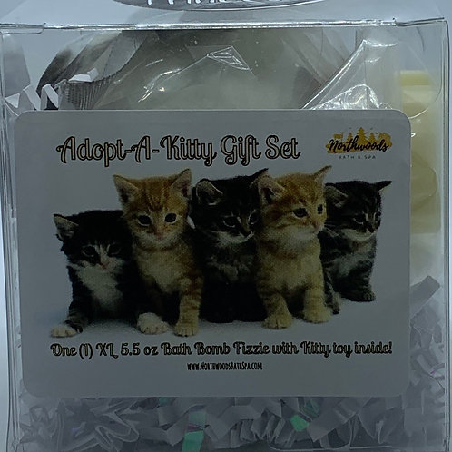 "Adopt-A-Kitty ""Princess"" 5.5 oz Bath Bomb Gift Set (Hugs)"