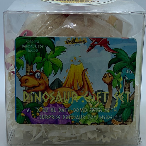 Colossal Dinosaur (Strawberry) XXL 8 oz Bath Bomb Gift Set