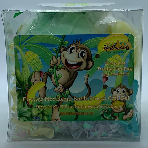 Funky Monkeys (Bubblegum) 5.5 oz Bath Bomb Gift Set