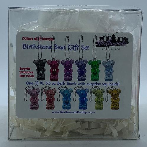 Birthstone Bears Keychain (April) 5.5 oz Bath Bomb Gift Set