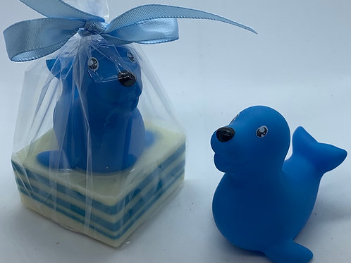 Seal Rubber Animal 2.5 oz Jungle Love Soap