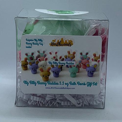 Itty Bitty Bunny Buddies (Cucumber Melon) 5.5 oz Bath Bomb Gift Set