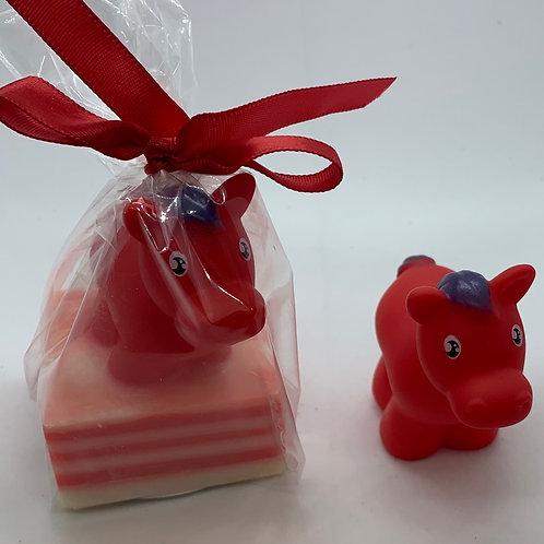 Horse Rubber Animal 2.5 oz Jungle Love Soap