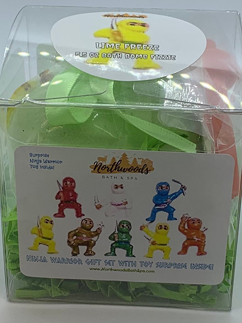 Ninja Warriors (Lime Freeze) 5.5 oz Bath Bomb Gift Set