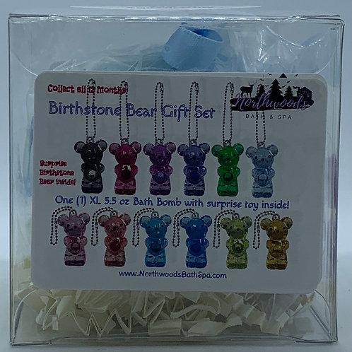Birthstone Bears Keychain (March) 5.5 oz Bath Bomb Gift Set