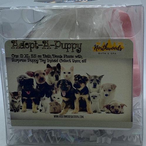 "Adopt-A-Puppy ""Gidget"" 5.5 oz Bath Bomb Gift Set (Coconut)"