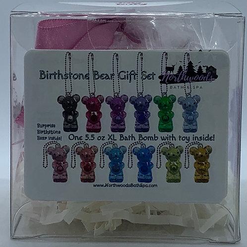Birthstone Bears Keychain (July) 5.5 oz Bath Bomb Gift Set