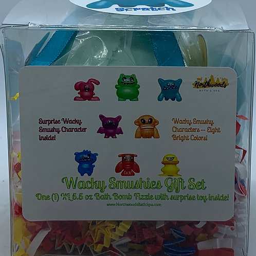 Wacky Smushies (Scratch) 5.5 oz Bath Bomb Gift Set