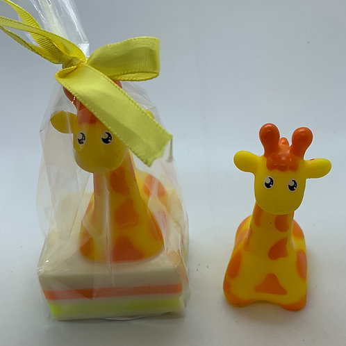 Giraffe Rubber Animal 2.5 oz Jungle Love Soap