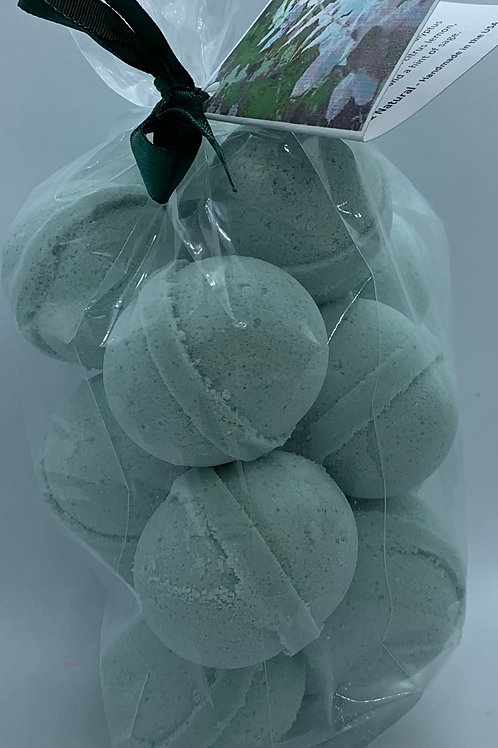 Eucalyptus & Spearmint 14-pack Bath Bomb Fizzies (round balls)