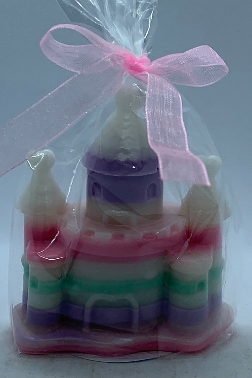 """Castle 2 oz """"Fairy Dust/Cucumber Melon"""" Soap (white, pink, purple, and green)"""