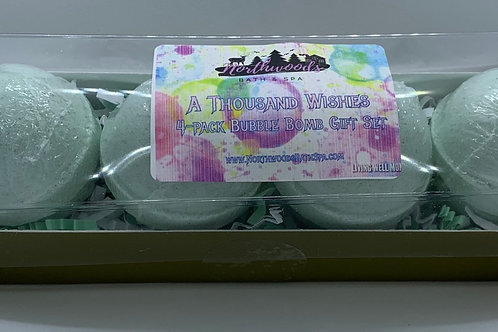 A Thousand Wishes 4-pack Bubble Bomb Gift Set