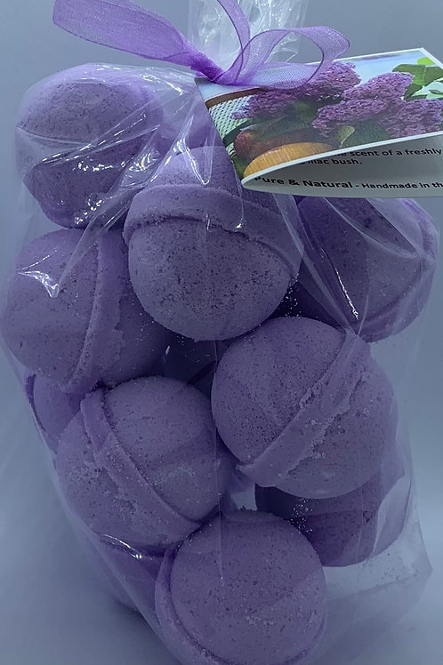 French Lilac 14-pack Bath Bomb Fizzies (round balls)