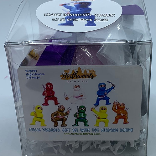 Ninja Warriors (Black Raspberry Vanilla) 5.5 oz Bath Bomb Gift Set