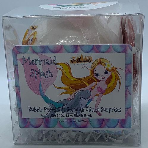 """Mermaid Splash """"1000 Kisses"""" 5.5 oz Bubble Bomb Gift Set"""
