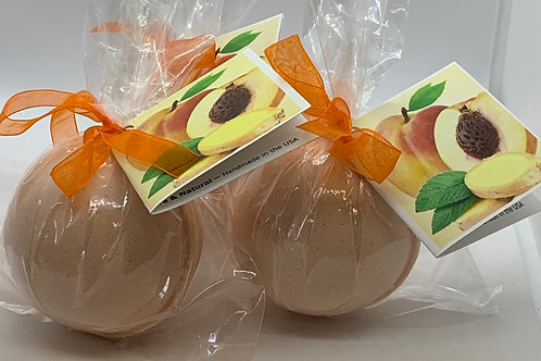 Ginger Peach - Three (3) XL 5.5 oz Bath Bomb Fizzies