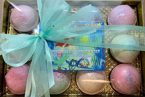 Mermaid 12-pack 2.4 oz Bubble Bomb Gift Set