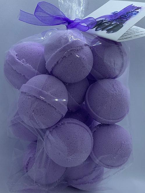 Tassie Lavender 14-pack Bath Bomb Fizzies (round balls)