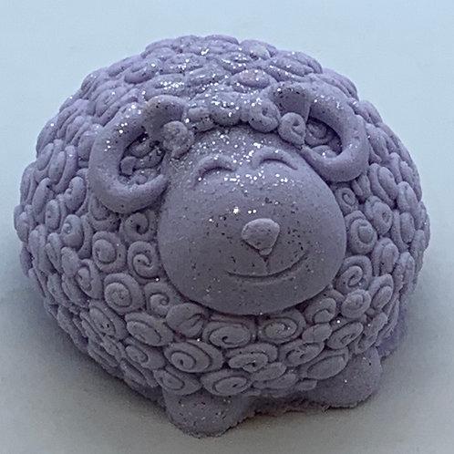 Unscented 6 oz Sheep Bath Bomb Fizzie