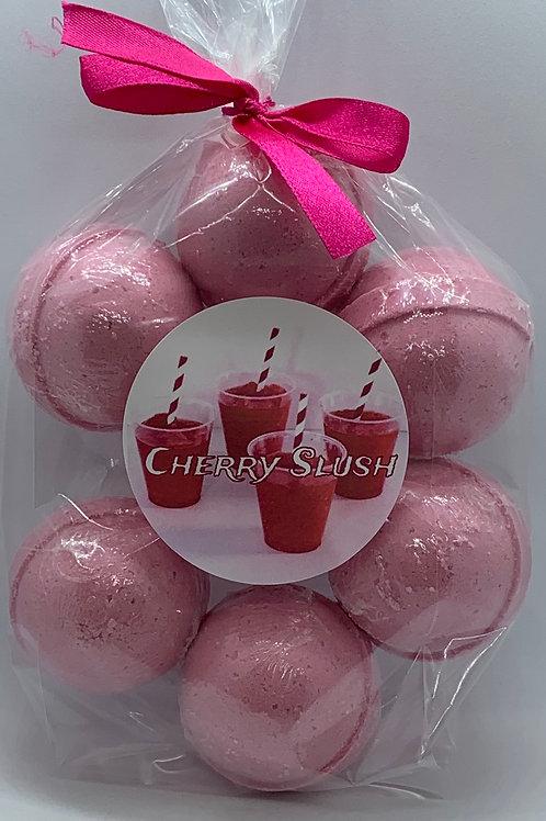 Cherry Slush 7-pack Bath Bomb Fizzies