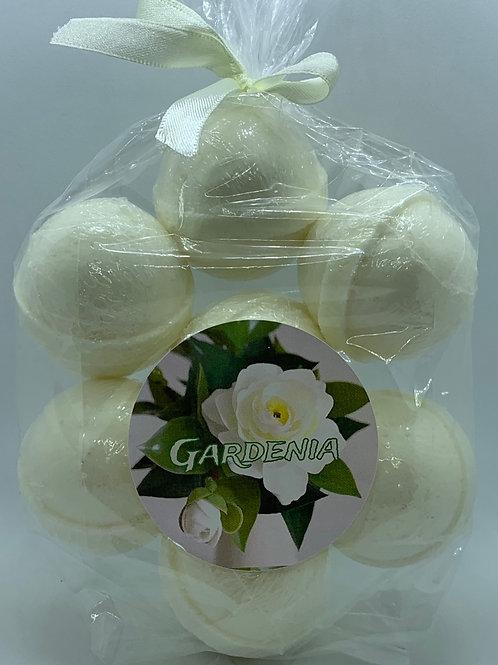 Gardenia 7-pack Bath Bomb Fizzies