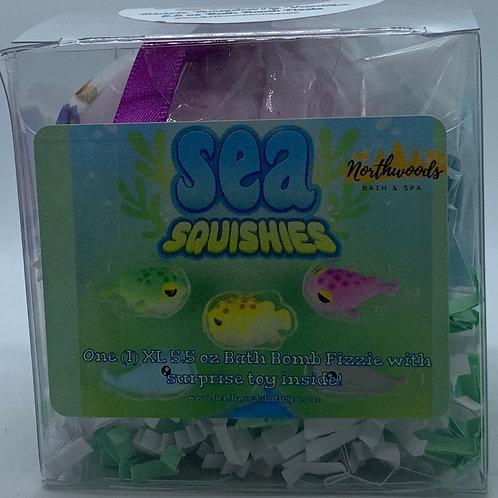 Sea Squishies (Black Raspberry Vanilla) 5.5 oz Bath Bomb Gift Set