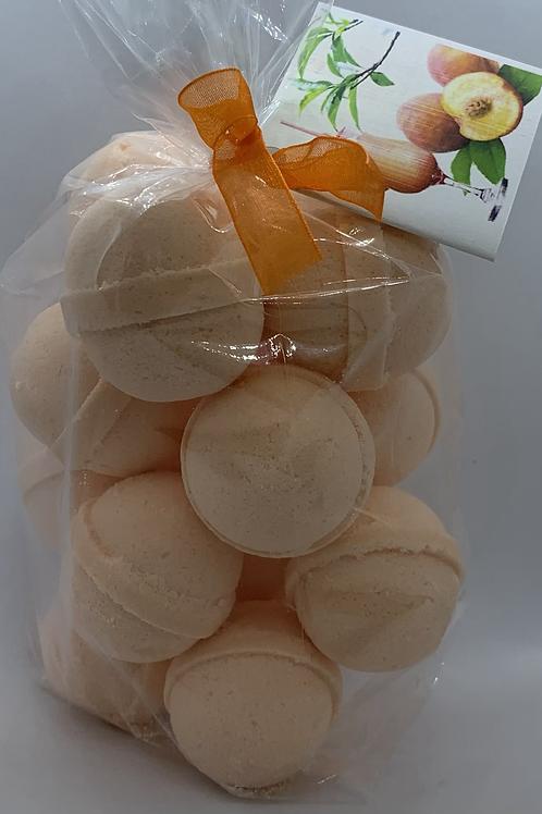 Georgia Peach 14-pack Bath Bomb Fizzies (round balls)