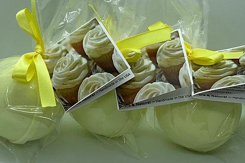 Lemon Creme - Three (3) XL 5.5 oz Bath Bomb Fizzies