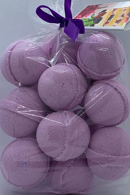 Black Raspberry Vanilla 14-pack Bath Bomb Fizzies (round balls)