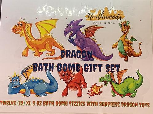 Large 5.5 oz Dragon 12-pack Bath Bomb Gift Set