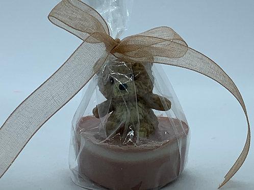 """Squishy Tan Teddy Bear 1 oz """"Snuggable"""" Soap"""
