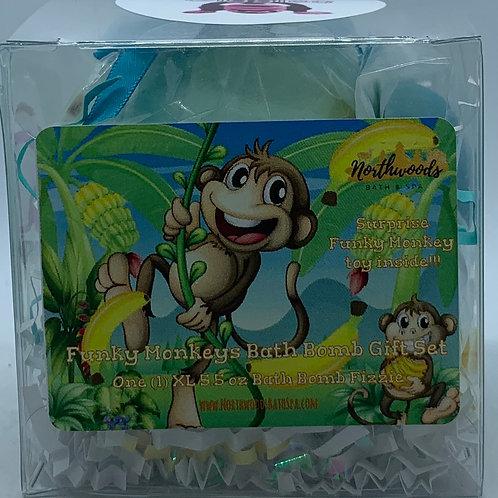 Funky Monkeys (Giggles) 5.5 oz Bath Bomb Gift Set