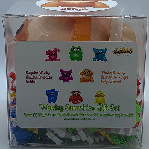Wacky Smushies (Bongo) 5.5 oz Bath Bomb Gift Set (Ginger Peach)