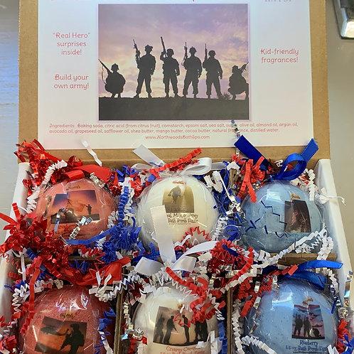 American Heroes 6-pack Bath Bomb Gift Set (b)
