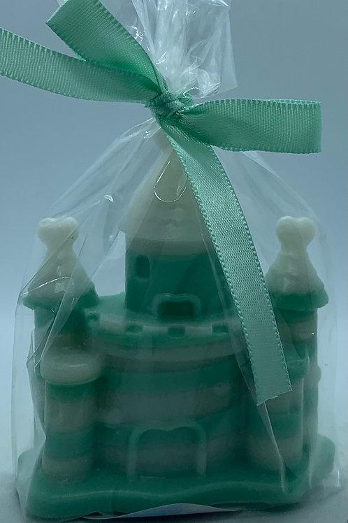 "Castle 2 oz ""Fairy Dust/Cucumber Melon"" Soap (green and white"