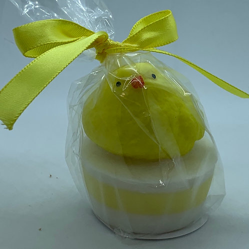 """Squishy Yellow Chick 1.4 oz """"Easter Bunny Burps"""" Soap"""