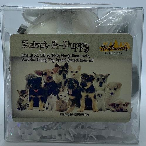 "Adopt-A-Puppy ""Cuddles"" 5.5 oz Bath Bomb Gift Set (Coconut Vanilla)"