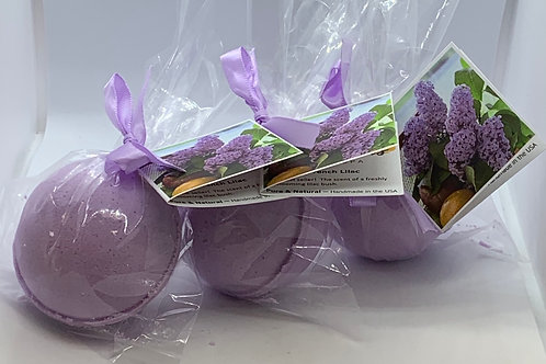 French Lilac - Three (3) XL 5.5 oz Bath Bomb Fizzies