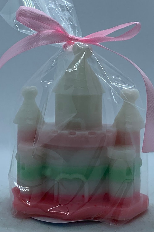 """Castle 2 oz """"Fairy Dust/Cucumber Melon"""" Soap (white, pink, green,  and peach)"""