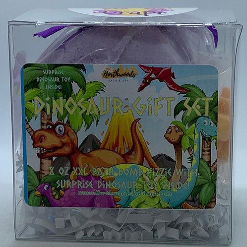 Colossal Dinosaur (Grape) (b) XXL 8 oz Bath Bomb Gift Set