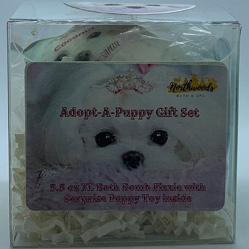 Adopt-A-Puppy (Coconut) 5.5 oz Bath Bomb Gift Set