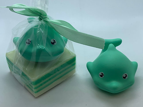 Dolphin Rubber Animal 2.5 oz Jungle Love Soap