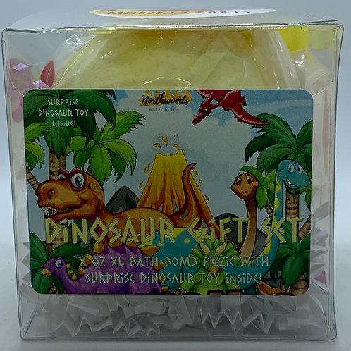 Colossal Dinosaur (Monkey Farts) XXL 8 oz Bath Bomb Gift Set (yellow)