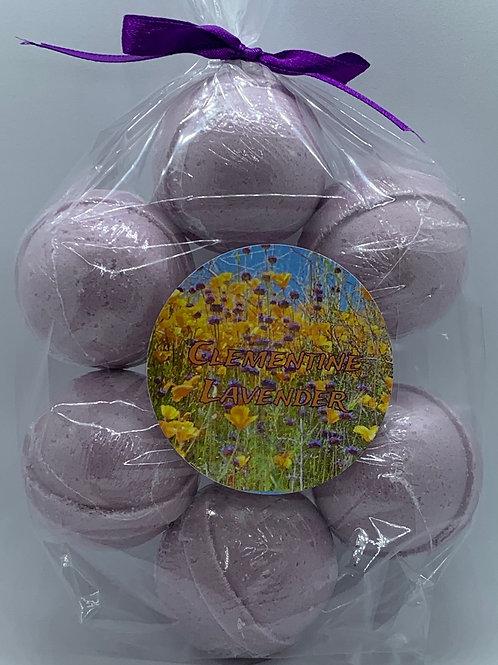 Clementine Lavender 7-pack Bath Bomb Fizzies