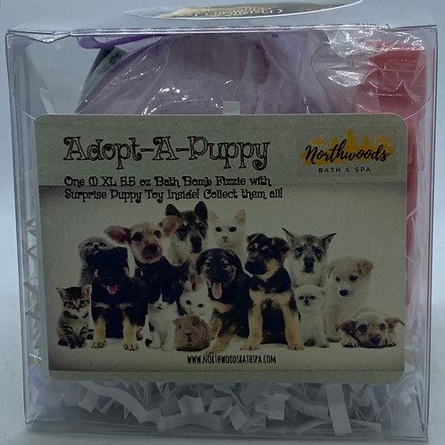 "Adopt-A-Puppy ""Sadie"" 5.5 oz Bath Bomb Gift Set (Berry)"