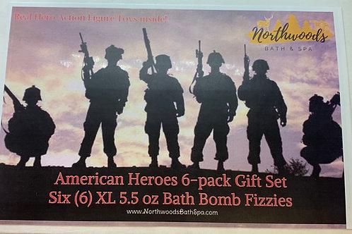 American Heroes 6-pack Bath Bomb Gift Set