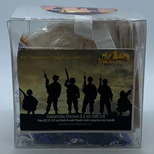 American Heroes (Coconut Vanilla) 5.5 oz Bath Bomb Gift Set