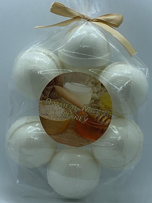 Oatmeal, Milk & Honey 7-pack Bath Bomb Fizzies